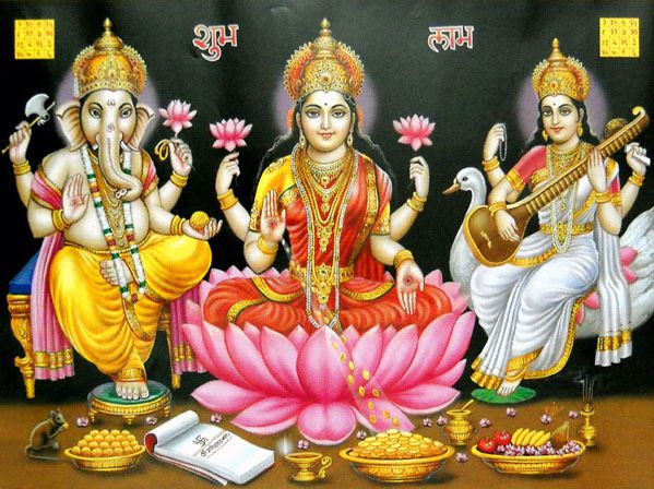 Laxmi Ganesh Images Diwali