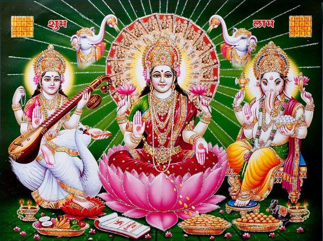 Maa Laxmi Ganesh Photos Images