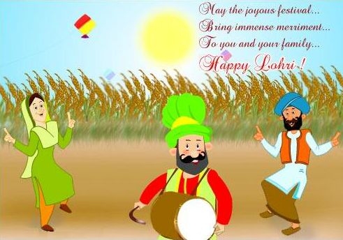 Happy Lohri Greetings Wallpapers