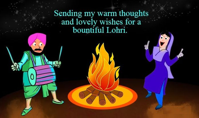 Happy Lohri Wallpaper in English for Facebook