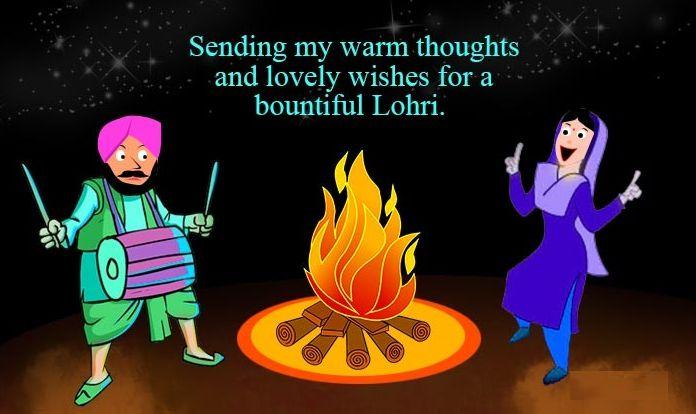 Happy Lohri Wallpaper in English for Facebook