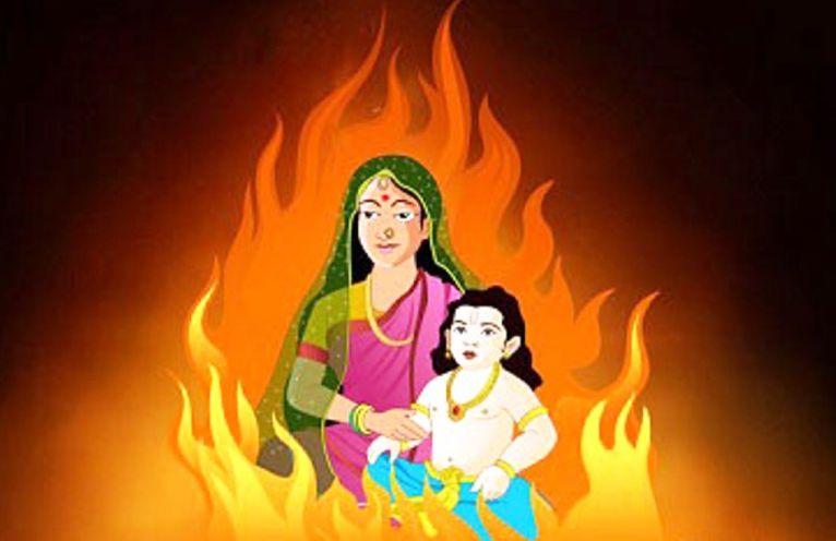 Holika Dahan Images Prahlad
