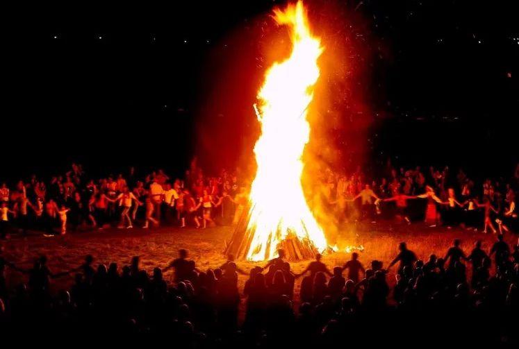 Images of Holika Dahan Celebration in India