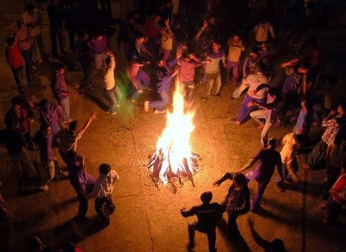 Images of Holika Dahan in India