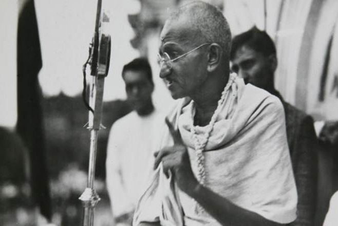 Mahatma Gandhi Images during Speech