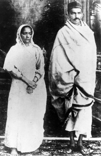Mahatma Gandhi and Kasturaba Bai Images