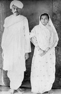 Mahatma Gandhi with Kasturaba Bai (His Wife)