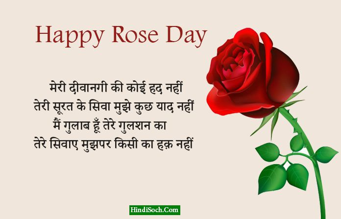 Romantic Rose Day Shayari in Hindi with Images
