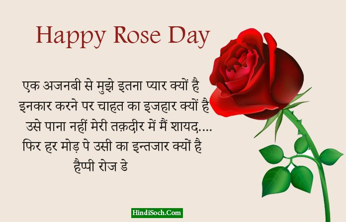 Rose Day Mubarak Shayari in Hindi