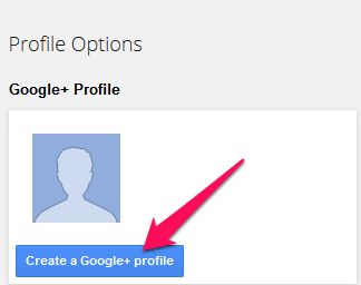 Create a Google+ profile
