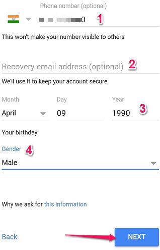 Enter Phone Details