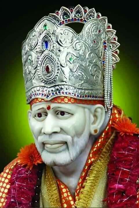 Sai Baba Images with Sai Baba Mukut Jai Sai