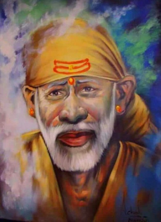 Sai Baba Painting HD