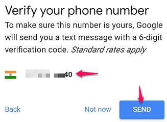 Send Verification Code to Phone