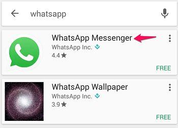Click on Whatsapp