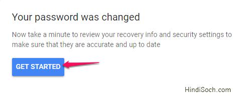 Password has changed