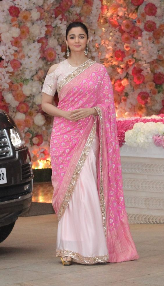 Alia Bhatt Saree Design HD Image