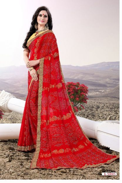 Beautiful HD Saree Design Color Red