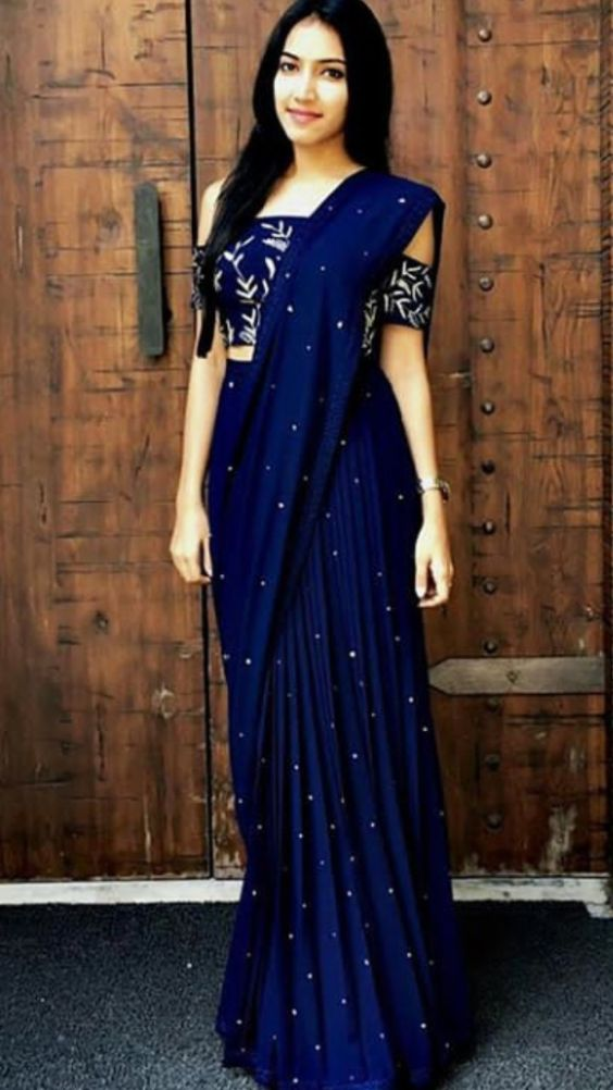 Blue Beautiful Saree Image