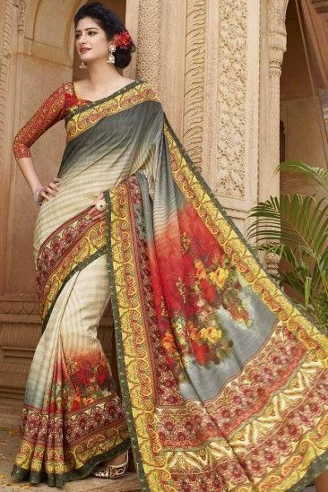 Multi Color Saree Image HD Design Indian