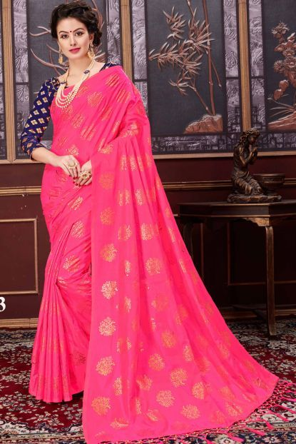 Pink Saree Image Beautiful