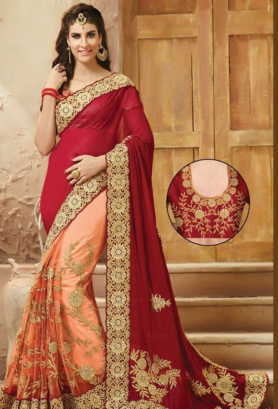 Saree Beautiful Design Image HD