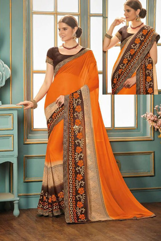 Women's Saree Design Image HD