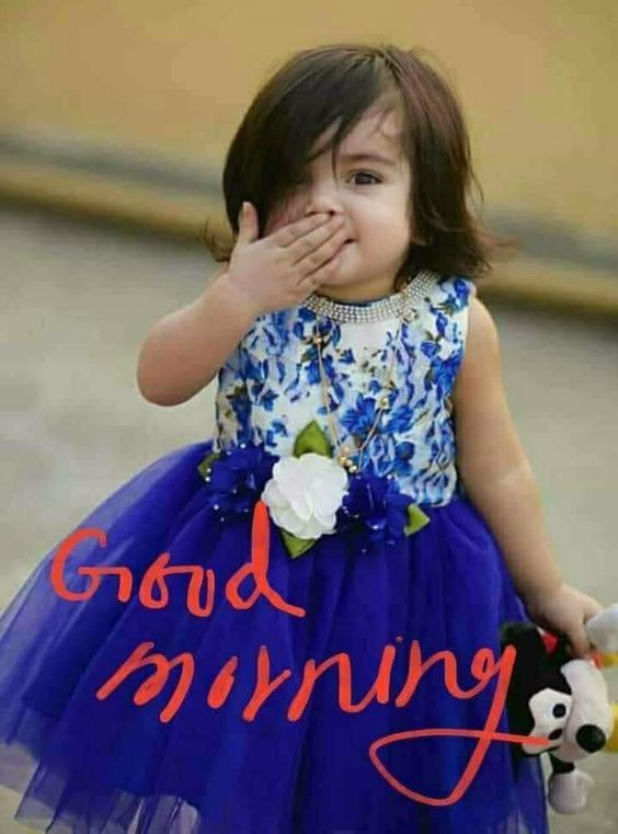 Baby Girl Good Morning Cute Image