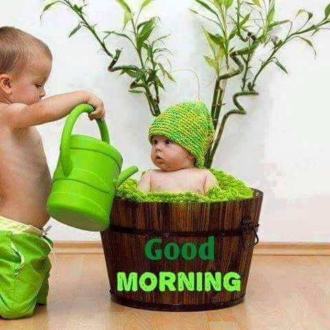 Cute Baby Kids Good Morning Funny Image