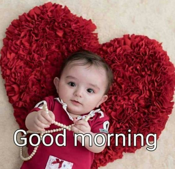 Cute Beautiful Baby Good Morning Image
