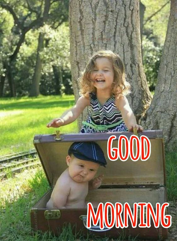Funny Brother Sister Good Morning Kids Images