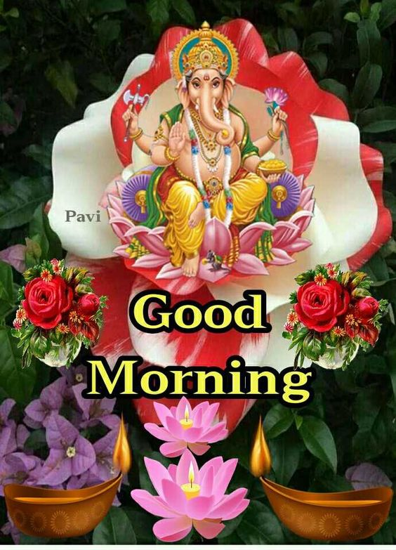 God Ganesha Good Morning Image Photo