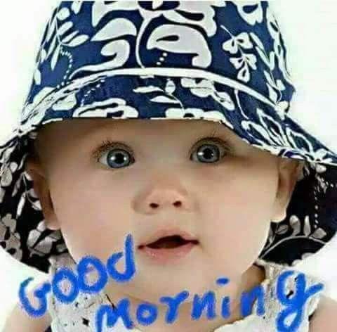 Good Morning Baby Boy Funny Photo