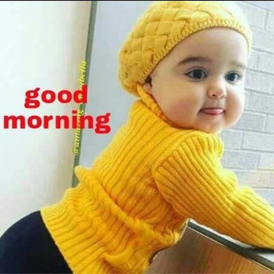 Good Morning Baby Kid Funny Pictures