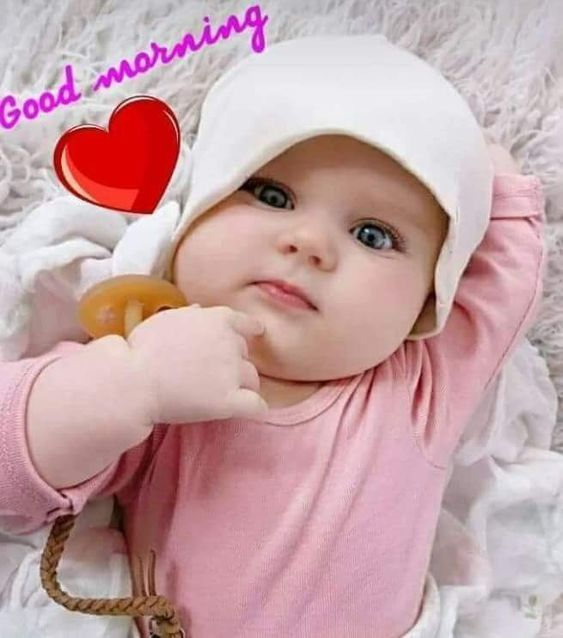 Good Morning Baby Kids Image Pic