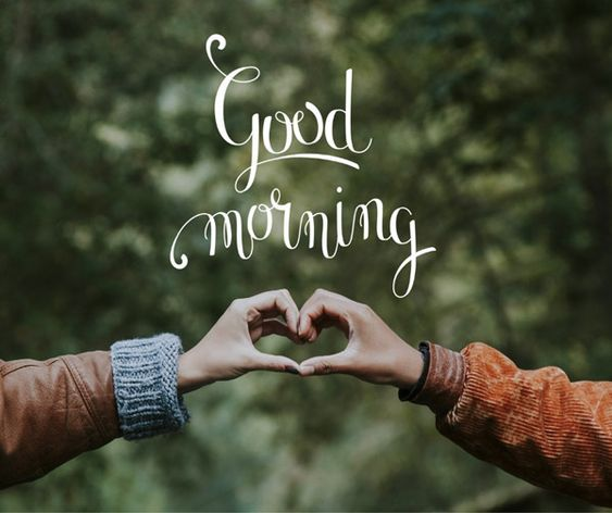 Good Morning Couple Heart Photo Romantic