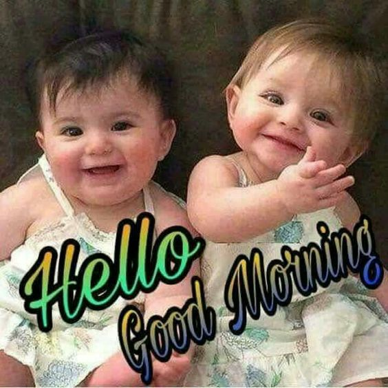 Good Morning Cute Baby Kid Image