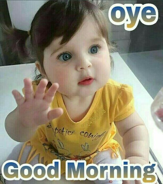 Good Morning Cute Beautiful Kids Baby Image