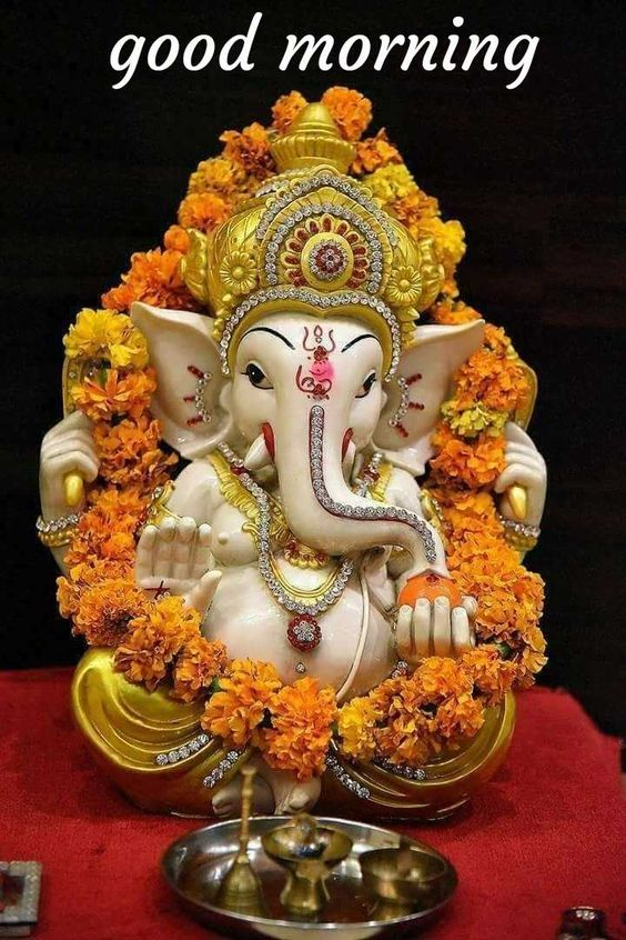 Good Morning Ganesha God Image