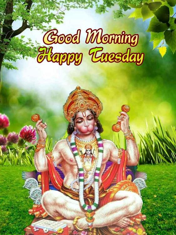 Good Morning God Hanuman Photo Image