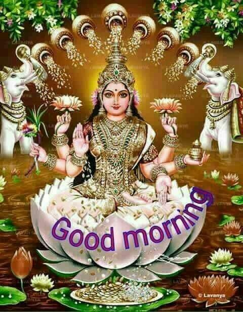 Good Morning Goddess Laxmi Image