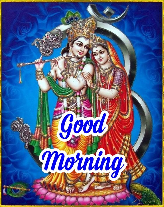 Good Morning Radha Krishna God Image Pic