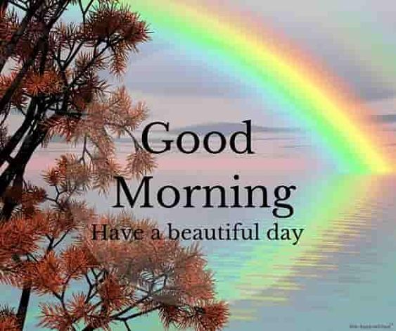 Good Morning Rainbow Morning Image Photo
