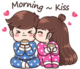 Good Morning Romantic Kiss Image