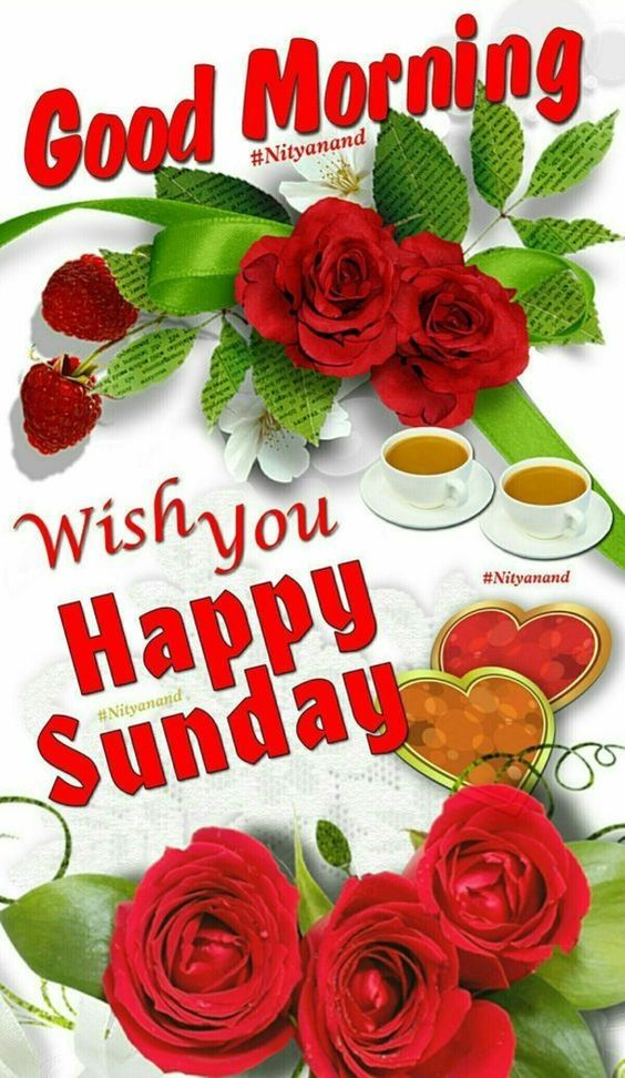 Good Morning Sunday Wishing Wallpaper Image