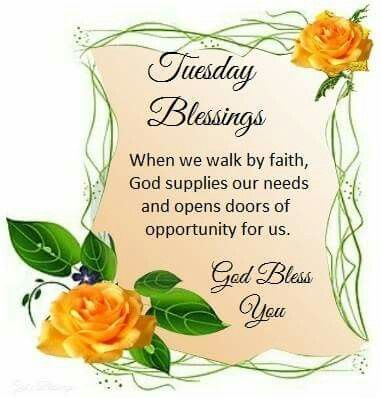 Good Morning Tuesday Blessing Image