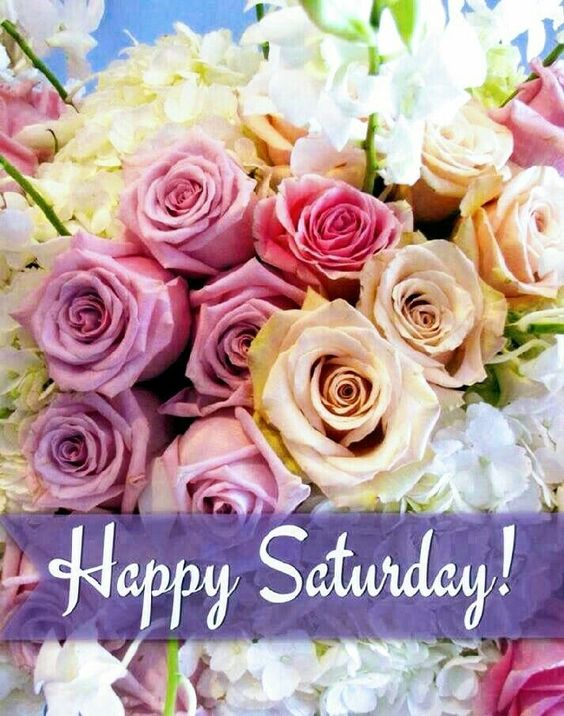 Happy Saturday Good Morning Flowers Image