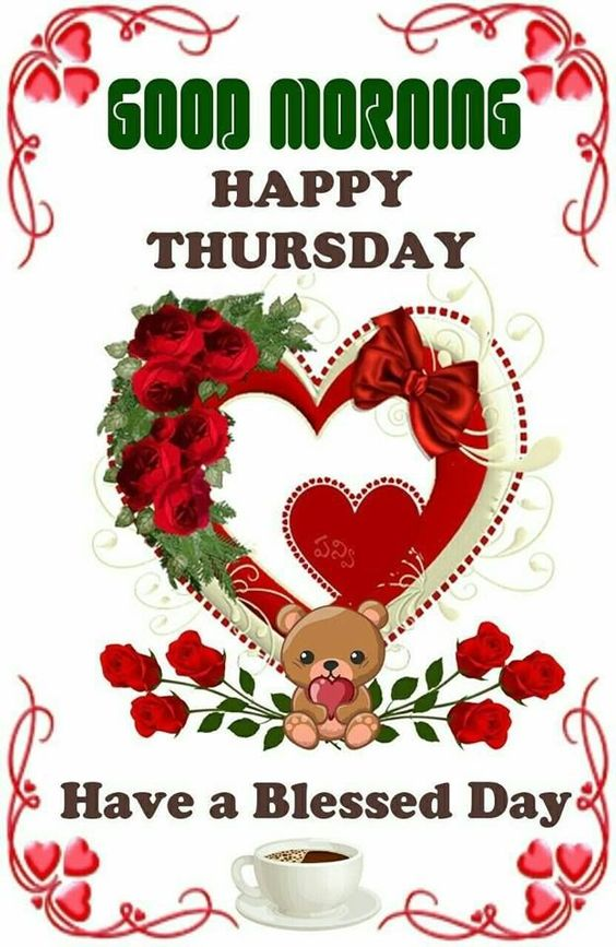 Happy Thursday Good Morning Blessing Image
