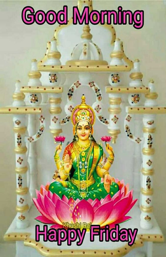 Laxmi Hindu Goddess Good Morning Image