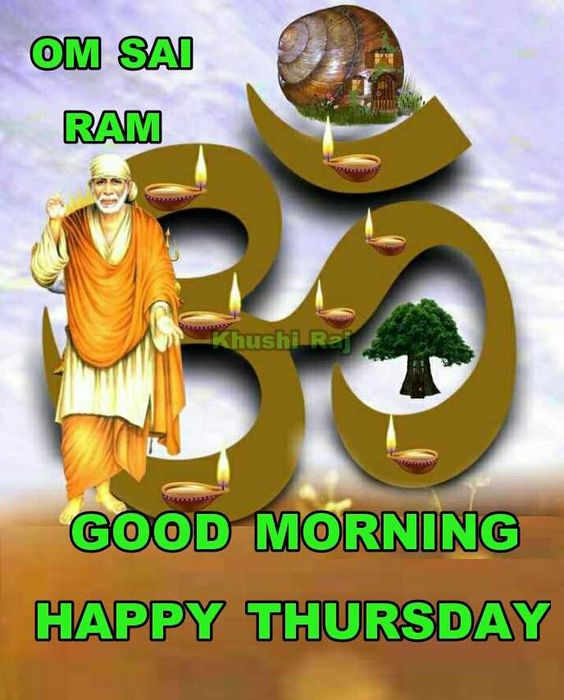 Om Sai Good Morning Thursday Pic Images